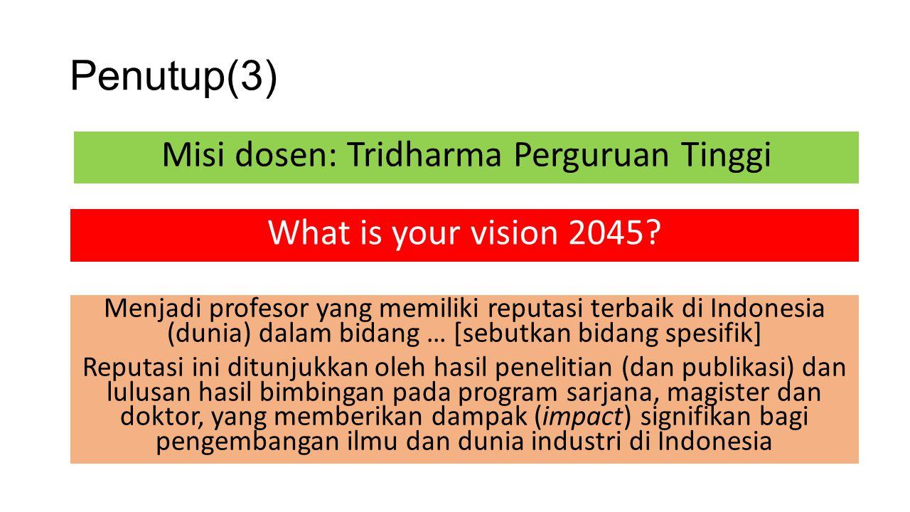 Misi dosen: Tridharma Perguruan Tinggi