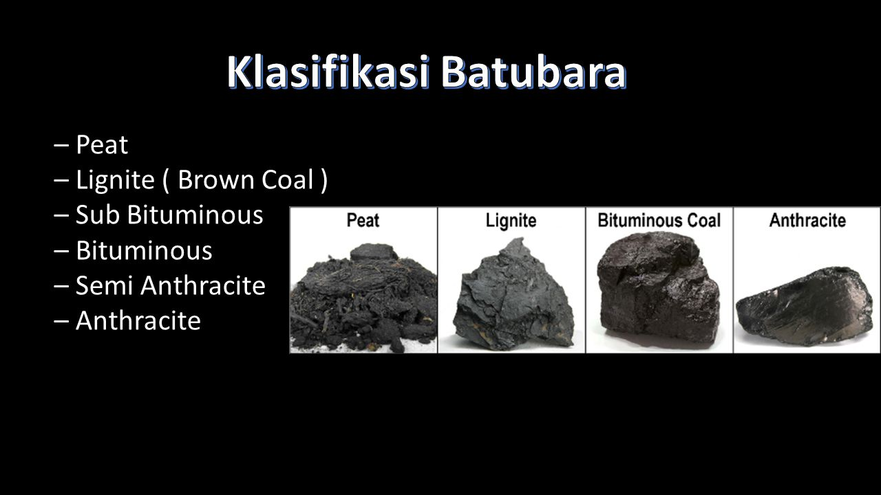 Klasifikasi Batubara – Peat – Lignite ( Brown Coal ) – Sub Bituminous