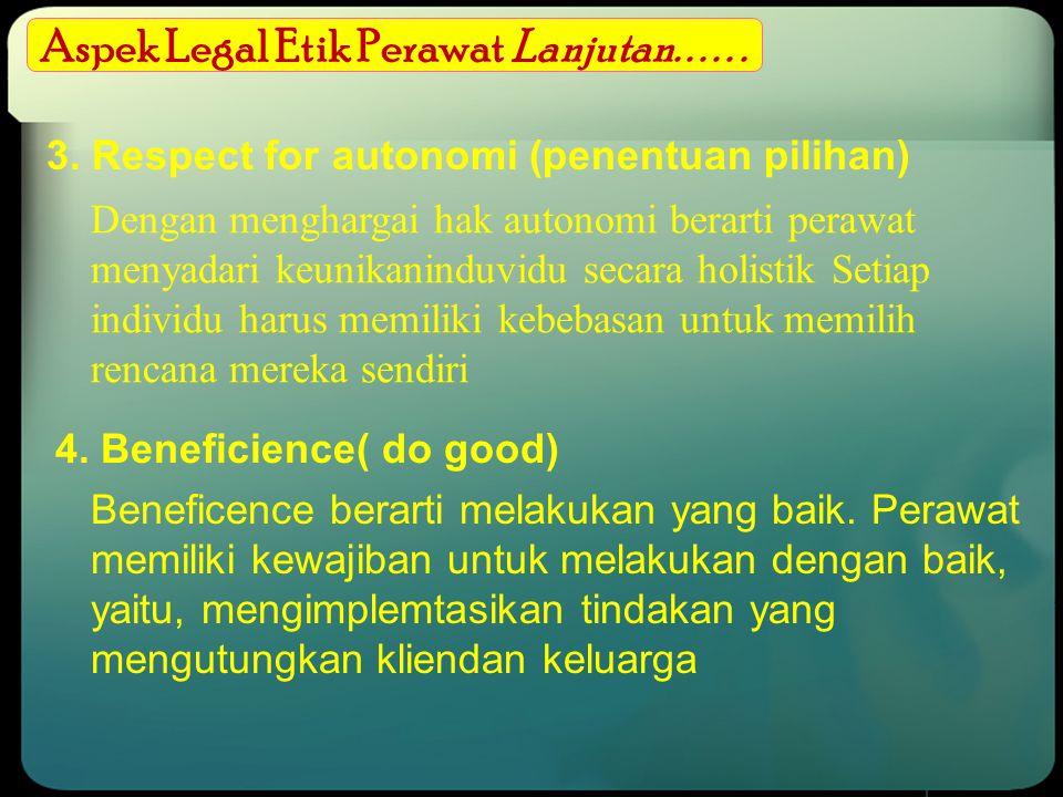 Aspek Legal Etik Perawat Lanjutan. . . . . .