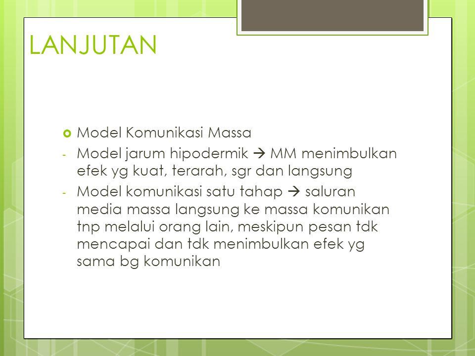 LANJUTAN Model Komunikasi Massa