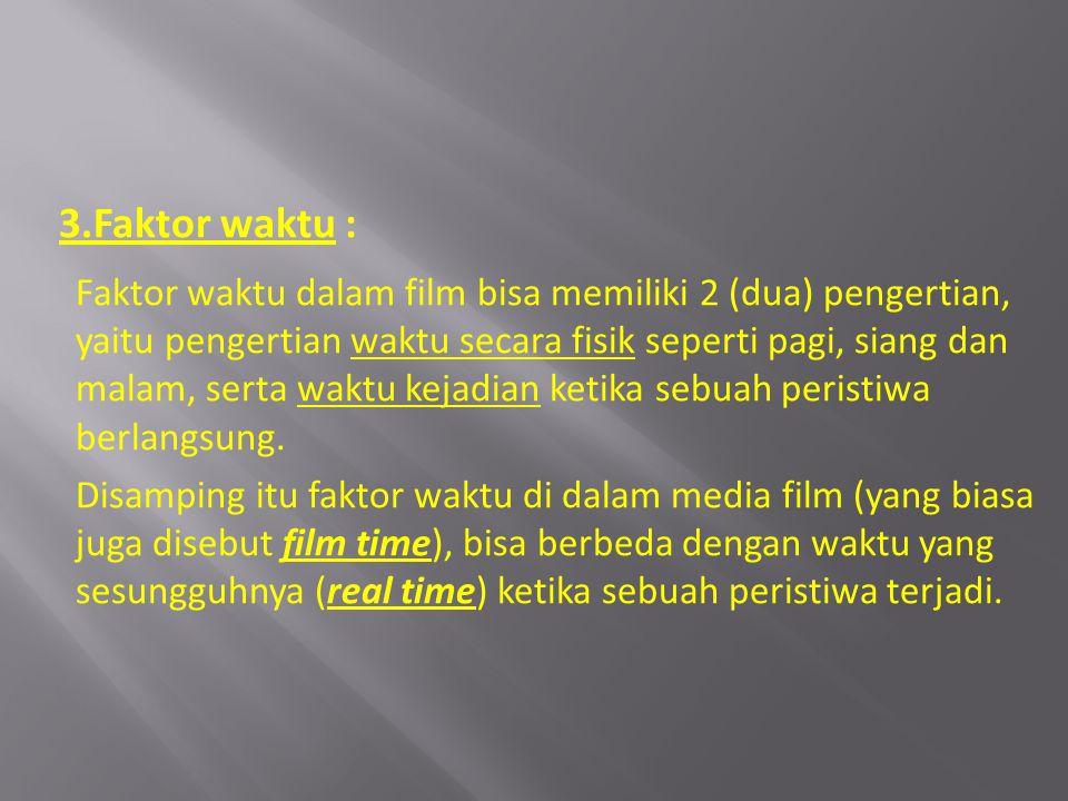 3.Faktor waktu :