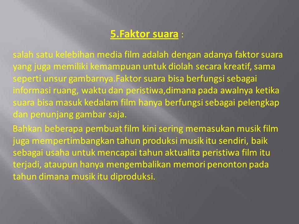 . 5.Faktor suara :