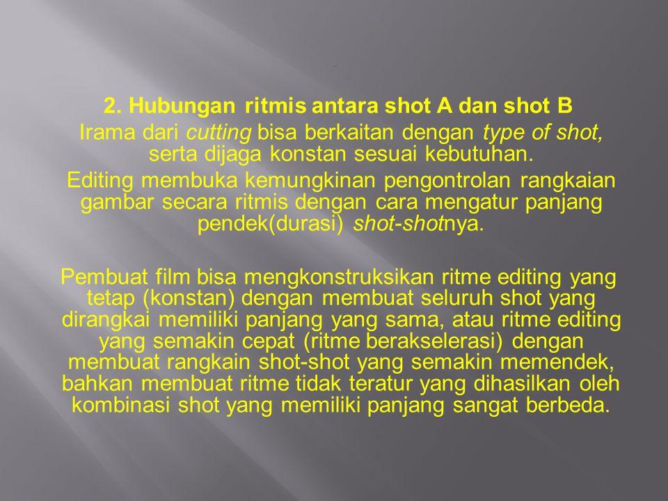 2. Hubungan ritmis antara shot A dan shot B