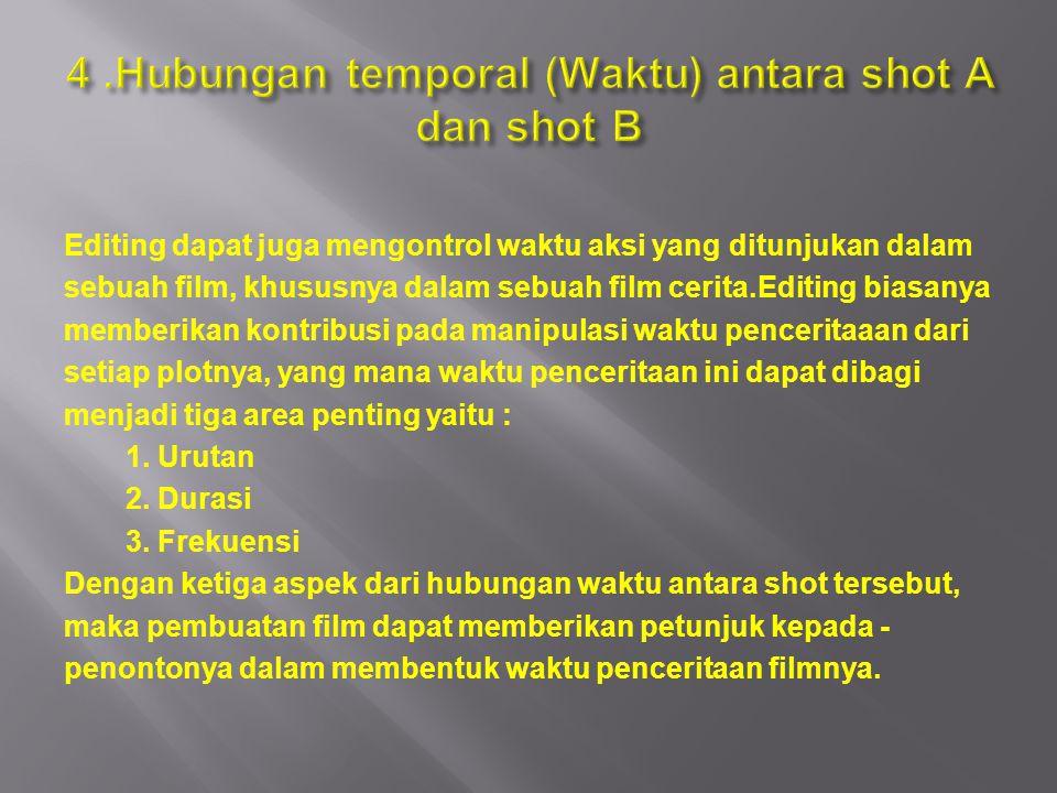 4 .Hubungan temporal (Waktu) antara shot A dan shot B