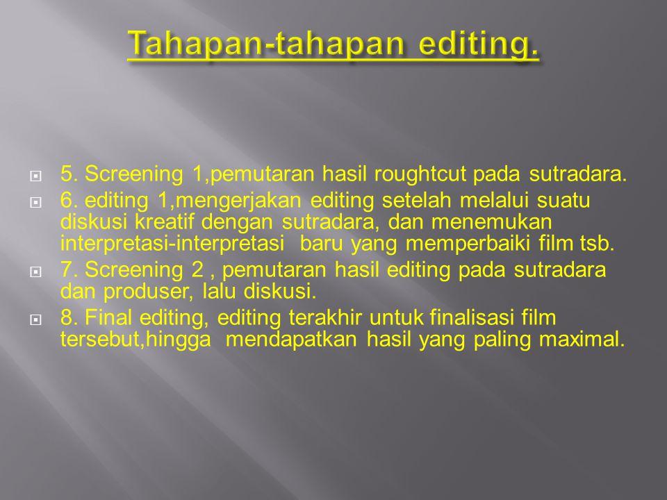 Tahapan-tahapan editing.