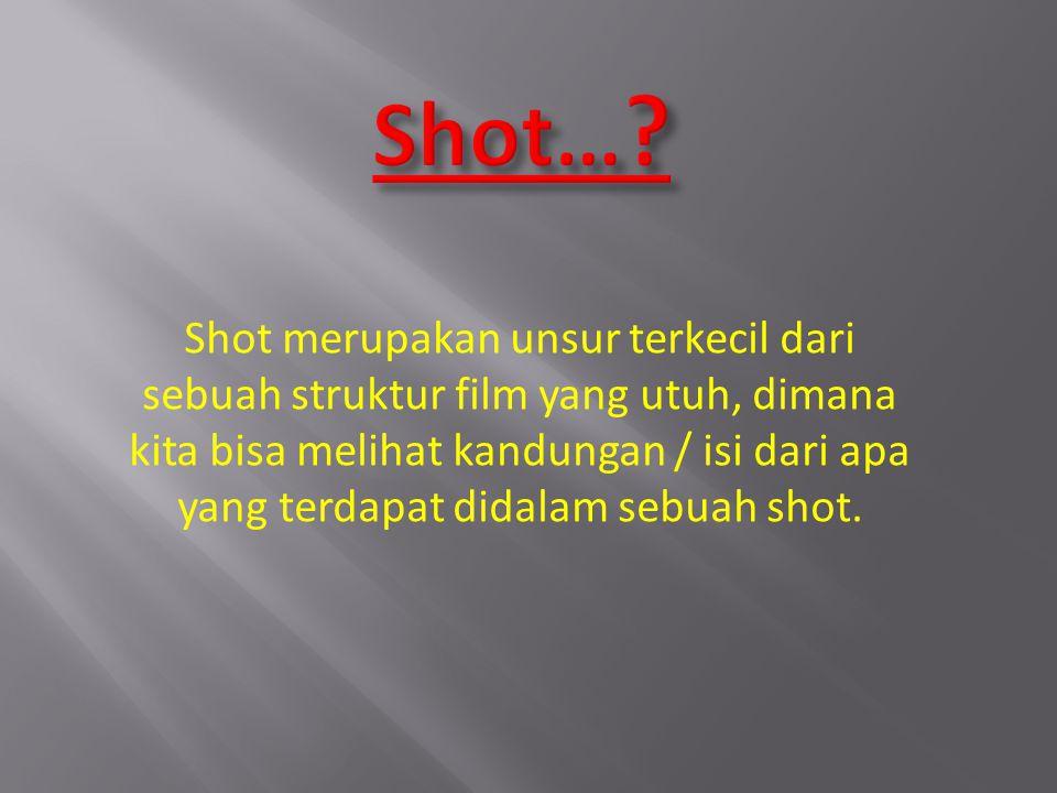 Shot… Shot merupakan unsur terkecil dari
