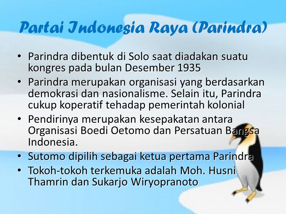 Partai Indonesia Raya (Parindra)