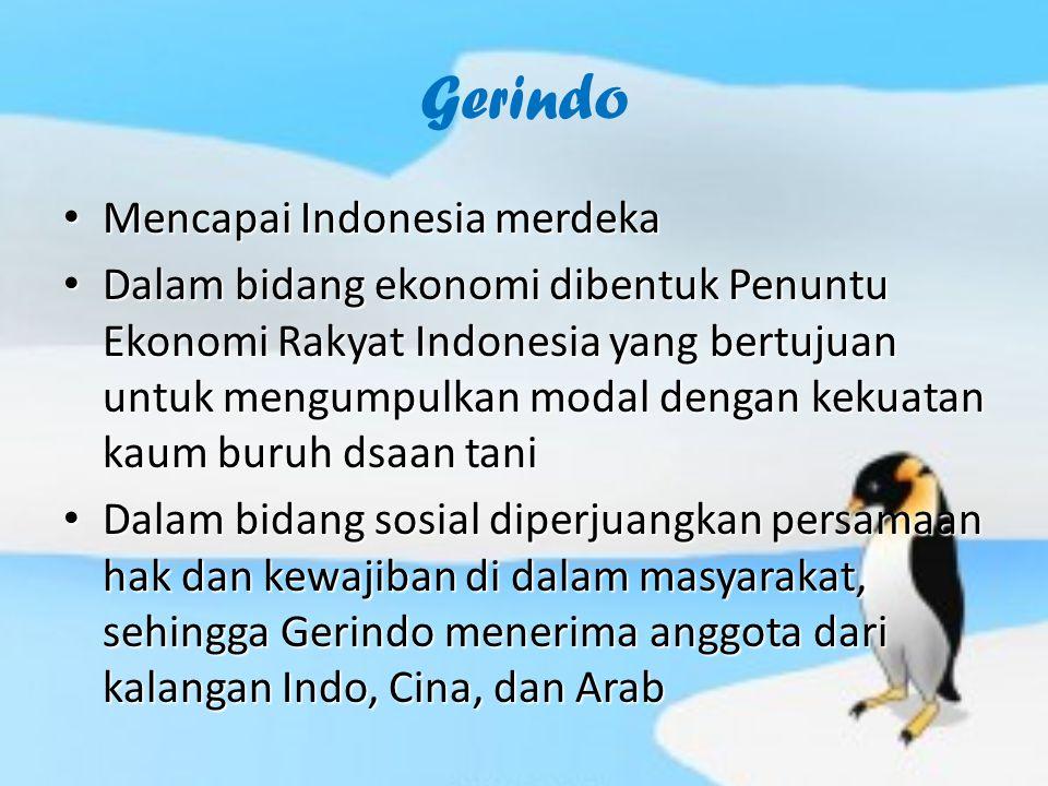 Gerindo Mencapai Indonesia merdeka