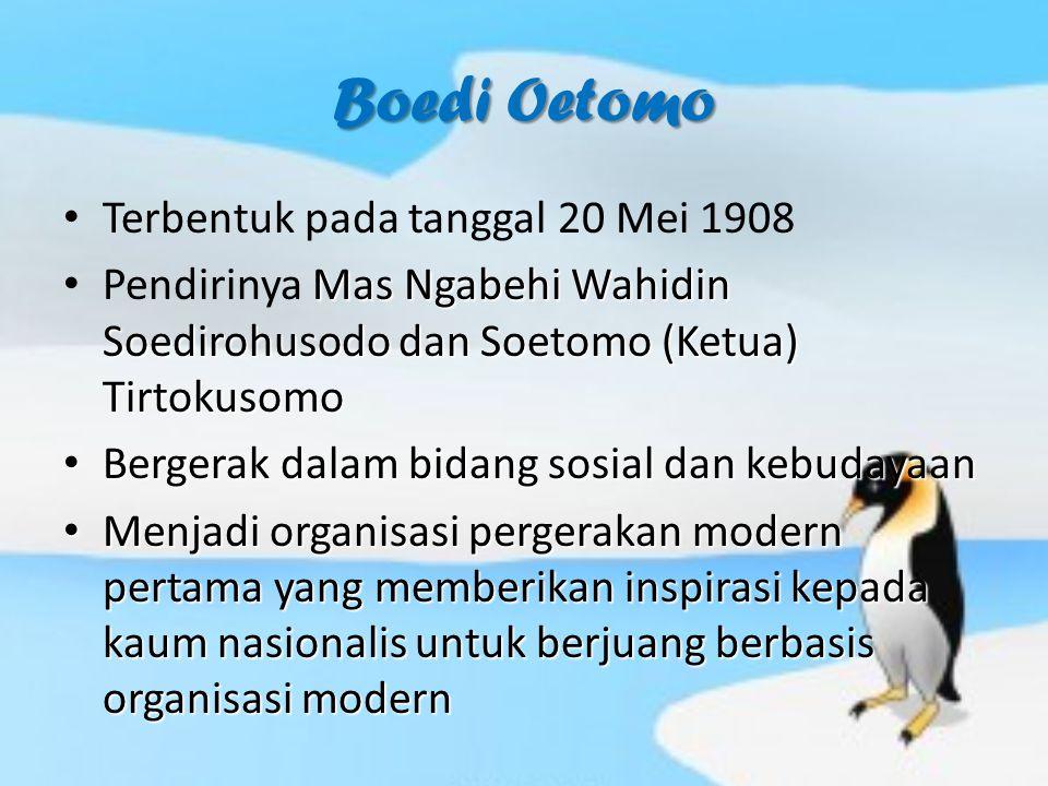 Boedi Oetomo Terbentuk pada tanggal 20 Mei 1908