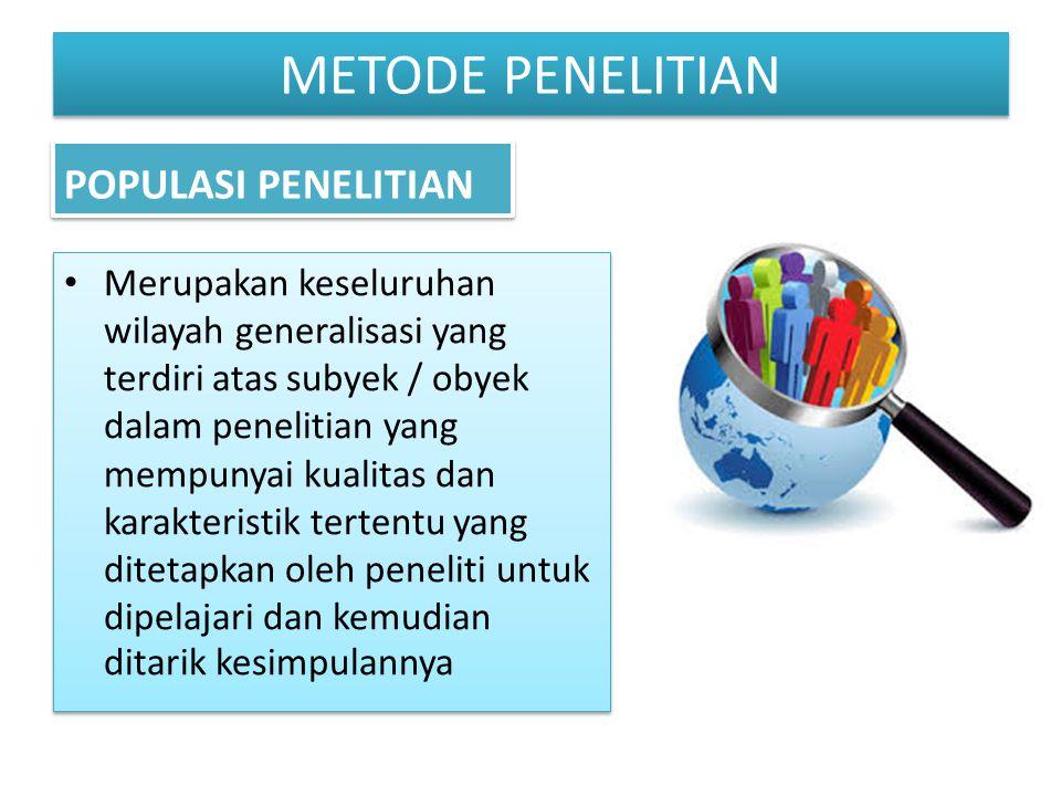 METODE PENELITIAN POPULASI PENELITIAN