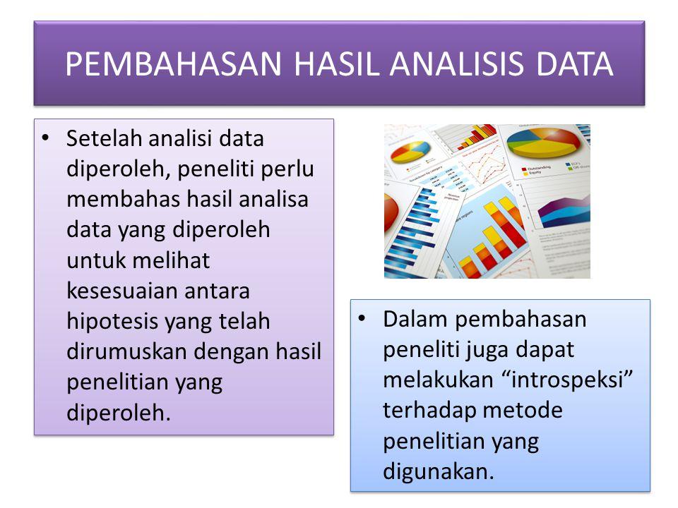 PEMBAHASAN HASIL ANALISIS DATA
