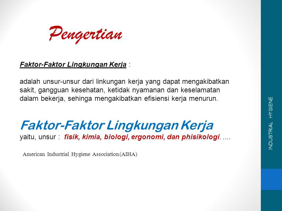 Pengertian Faktor-Faktor Lingkungan Kerja :
