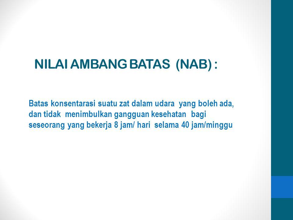 NILAI AMBANG BATAS (NAB) :