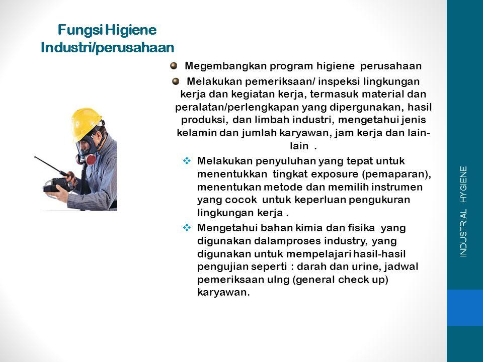 Fungsi Higiene Industri/perusahaan