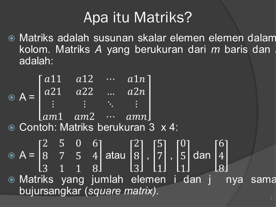Apa itu Matriks