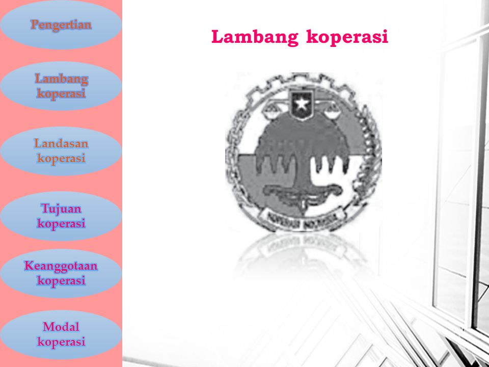 Lambang koperasi Pengertian Lambang koperasi Landasan koperasi