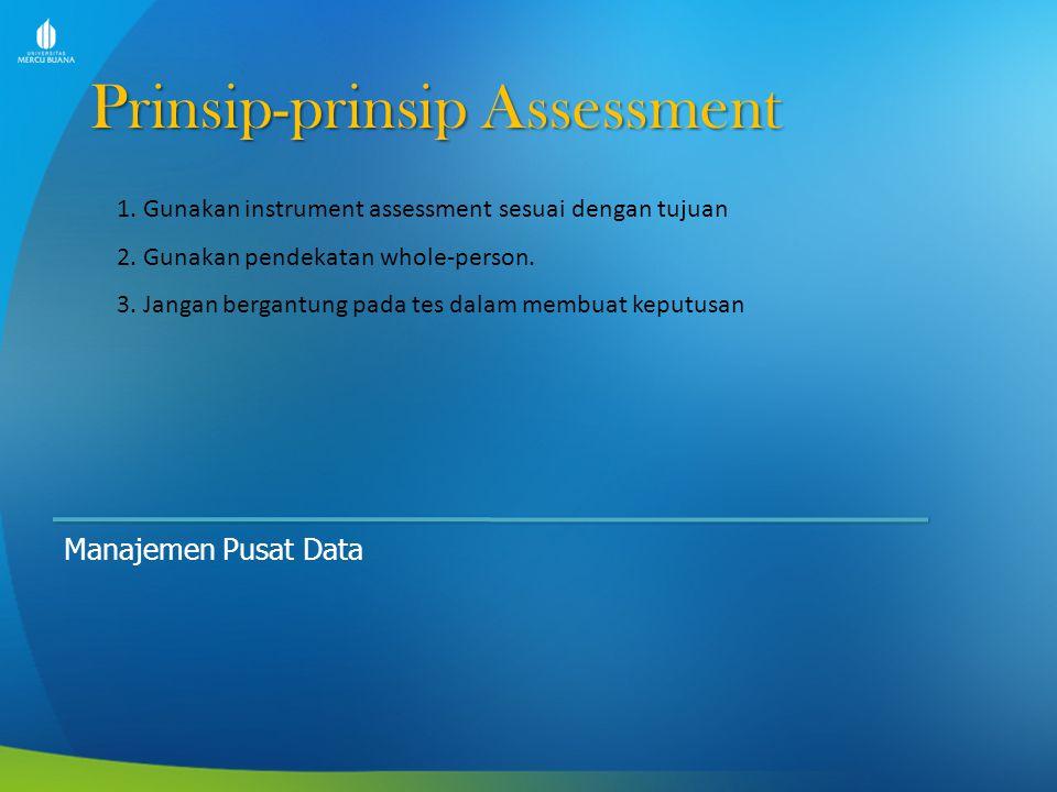 Prinsip-prinsip Assessment