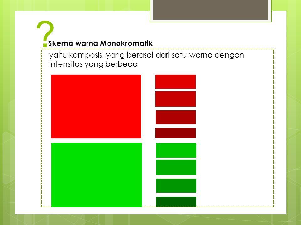 Skema warna Monokromatik