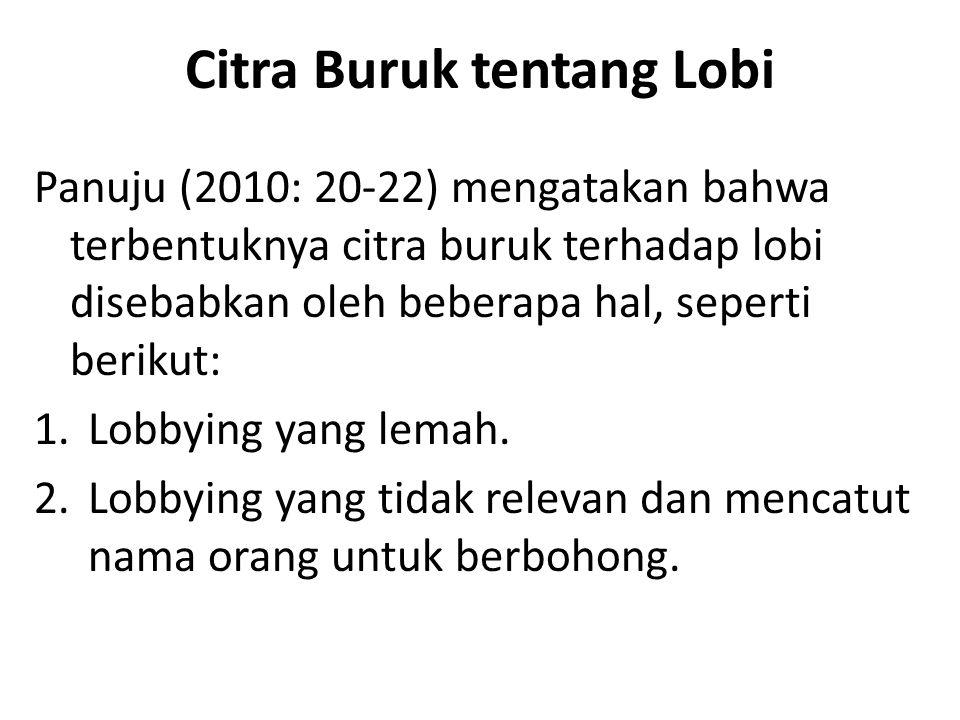 Citra Buruk tentang Lobi