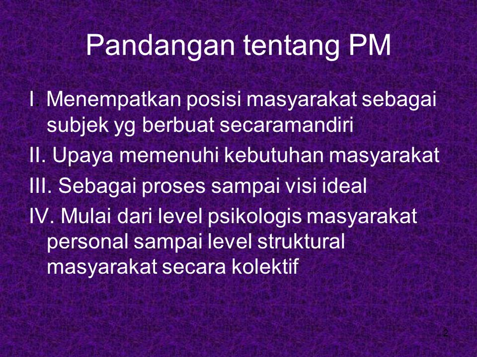 Pandangan tentang PM