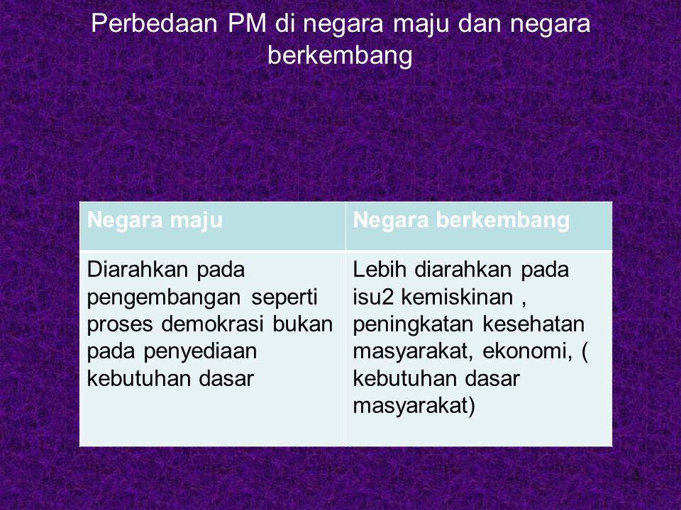 Perbedaan PM di negara maju dan negara berkembang