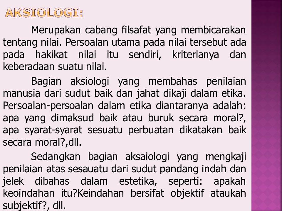 Aksiologi: