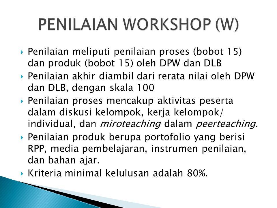 PENILAIAN WORKSHOP (W)