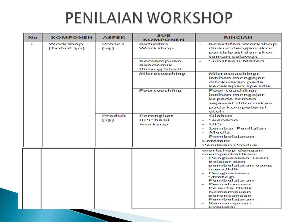 PENILAIAN WORKSHOP