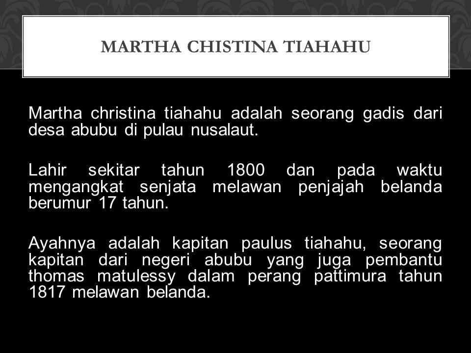 Martha Chistina Tiahahu