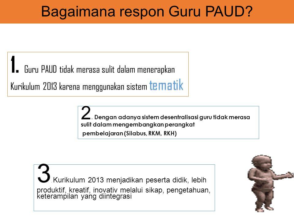 Bagaimana respon Guru PAUD