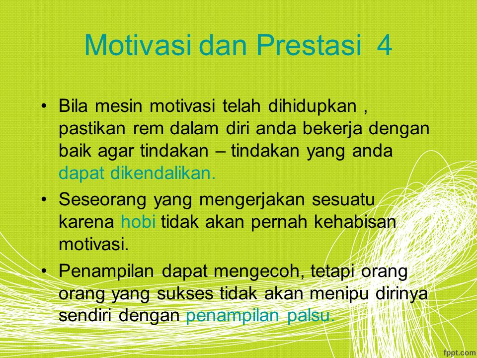 Motivasi dan Prestasi 4