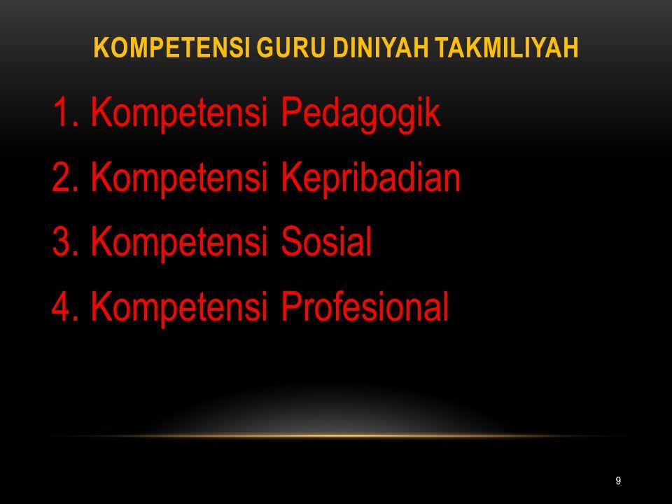 Kompetensi Guru Diniyah Takmiliyah