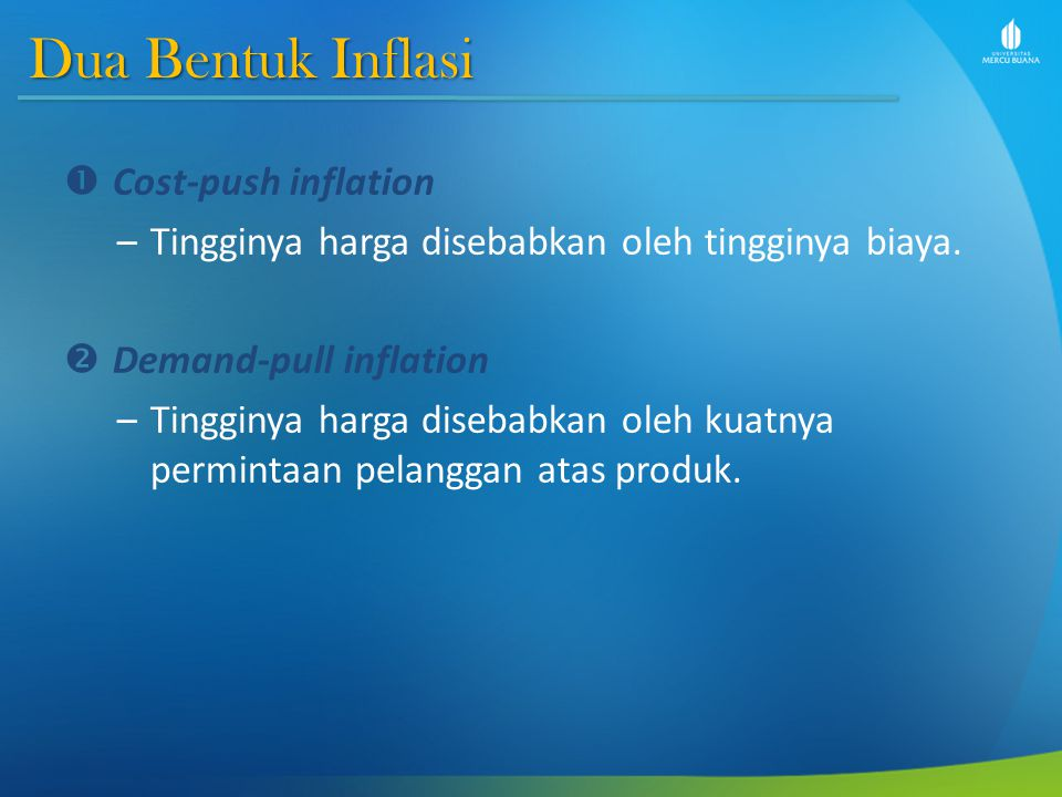 Dua Bentuk Inflasi Cost-push inflation