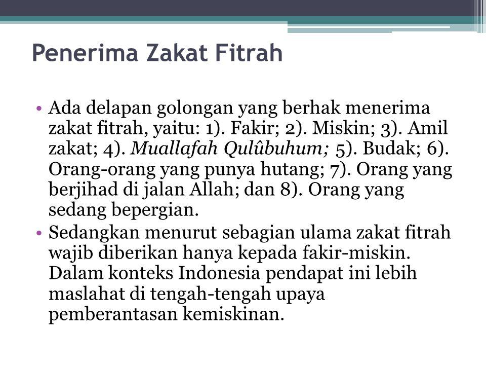 Penerima Zakat Fitrah