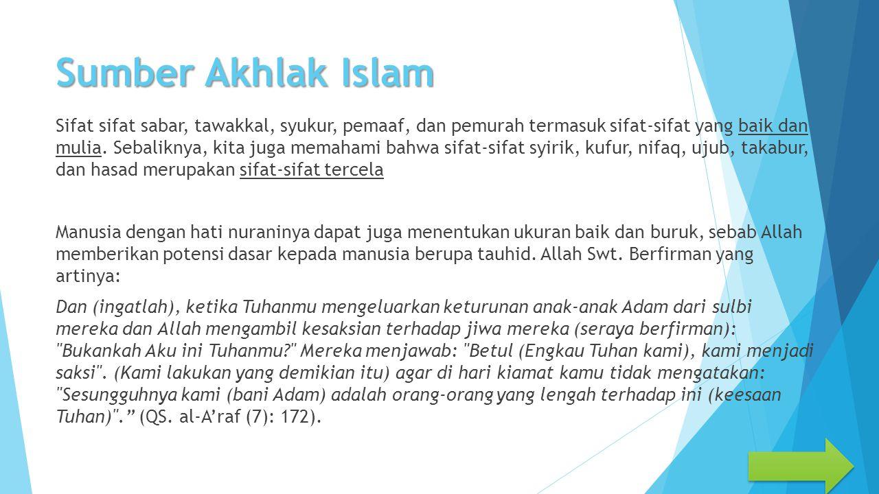 Sumber Akhlak Islam