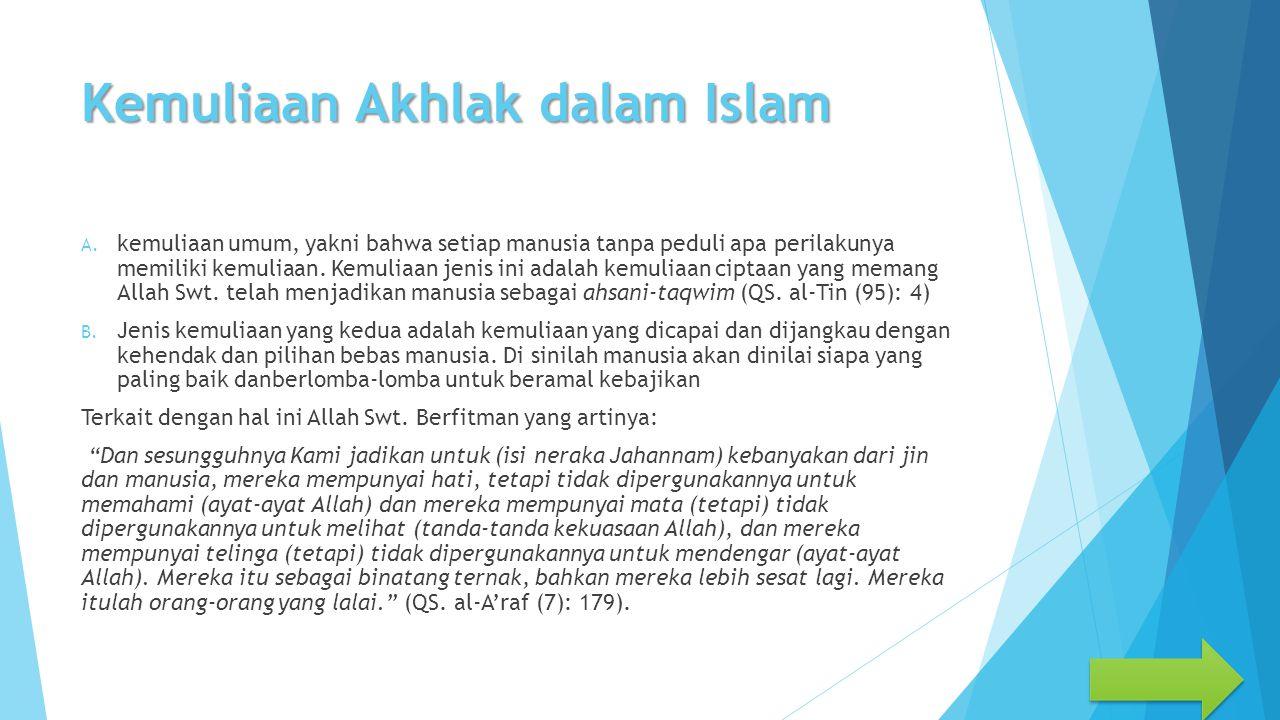 Kemuliaan Akhlak dalam Islam