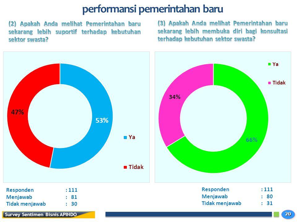 performansi pemerintahan baru