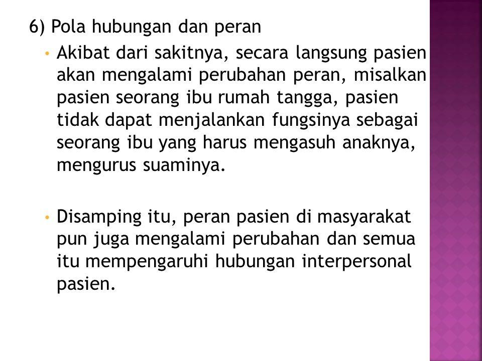 6) Pola hubungan dan peran