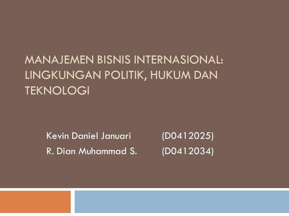 Kevin Daniel Januari (D0412025) R. Dian Muhammad S. (D0412034)