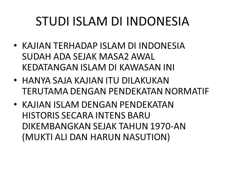 STUDI ISLAM DI INDONESIA