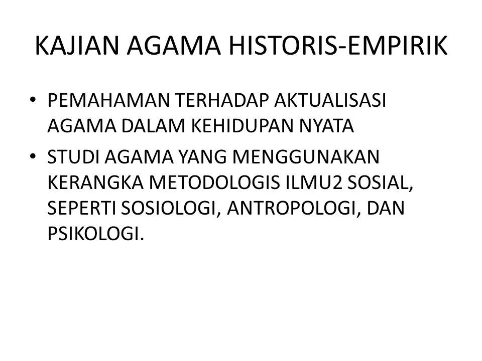 KAJIAN AGAMA HISTORIS-EMPIRIK