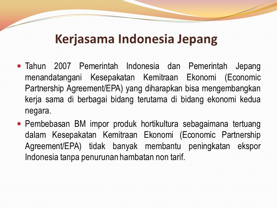 Kerjasama Indonesia Jepang