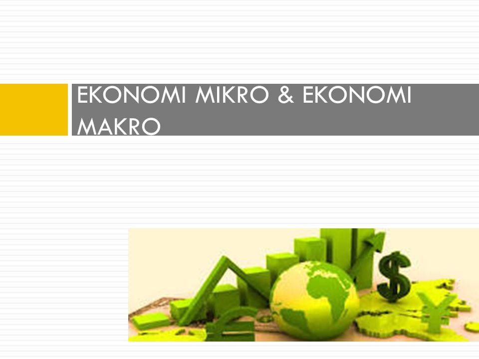 EKONOMI MIKRO & EKONOMI MAKRO