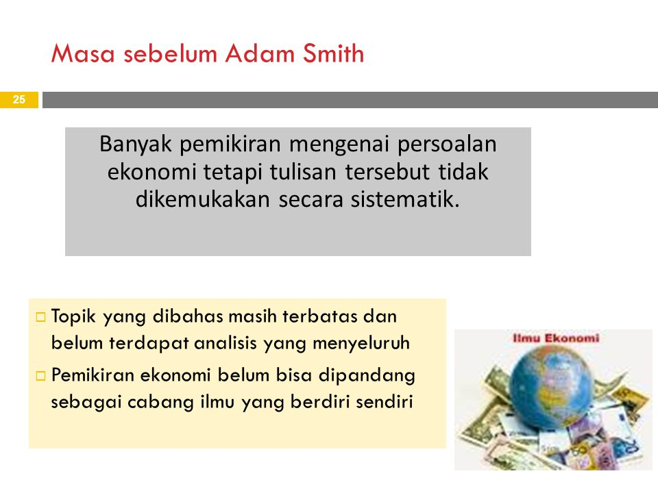 Masa sebelum Adam Smith