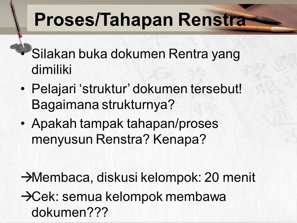 Proses/Tahapan Renstra