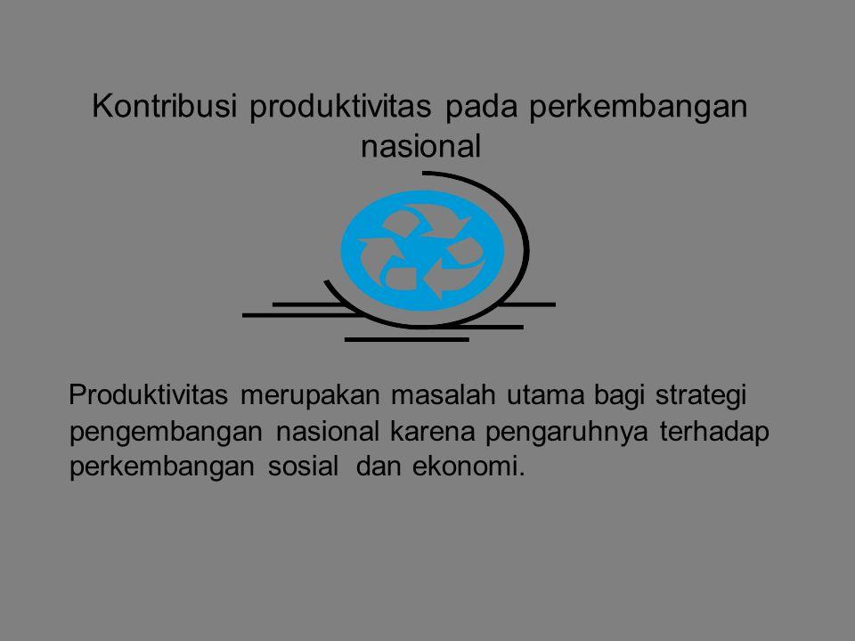 Kontribusi produktivitas pada perkembangan nasional