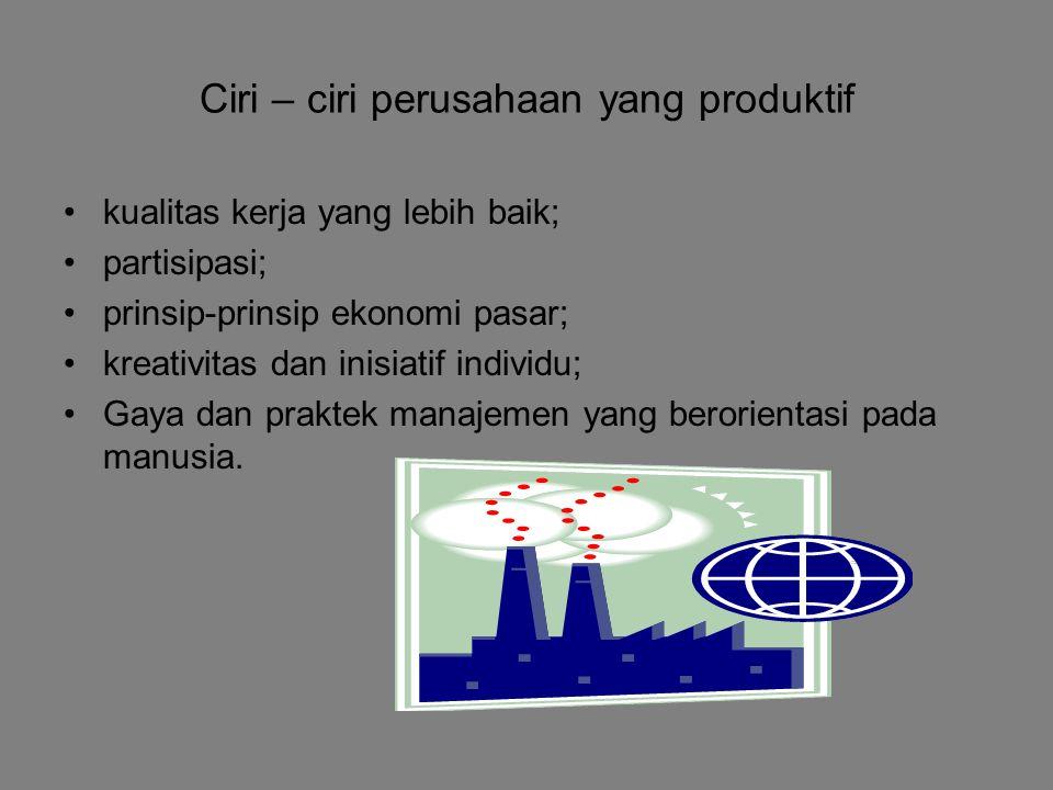 Ciri – ciri perusahaan yang produktif