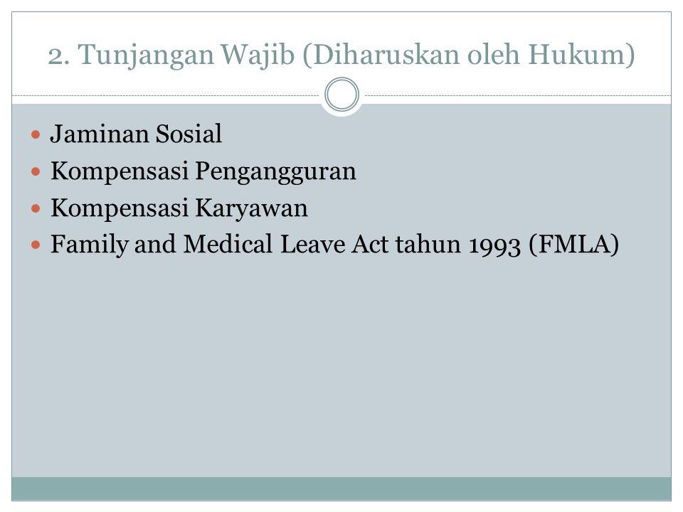 2. Tunjangan Wajib (Diharuskan oleh Hukum)