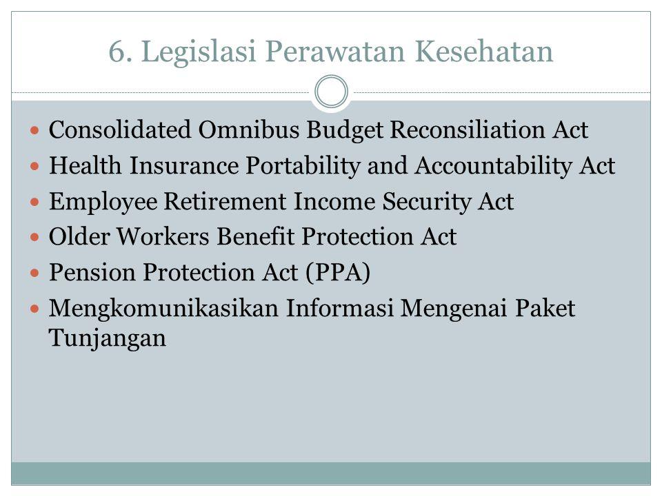 6. Legislasi Perawatan Kesehatan