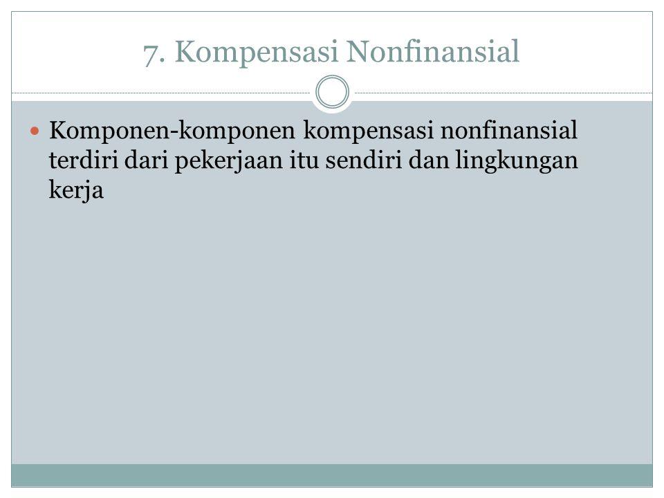 7. Kompensasi Nonfinansial
